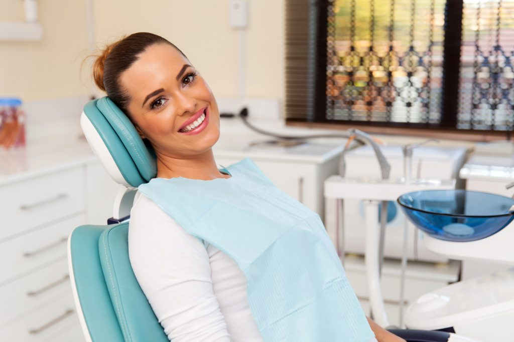 Lady in dental chair